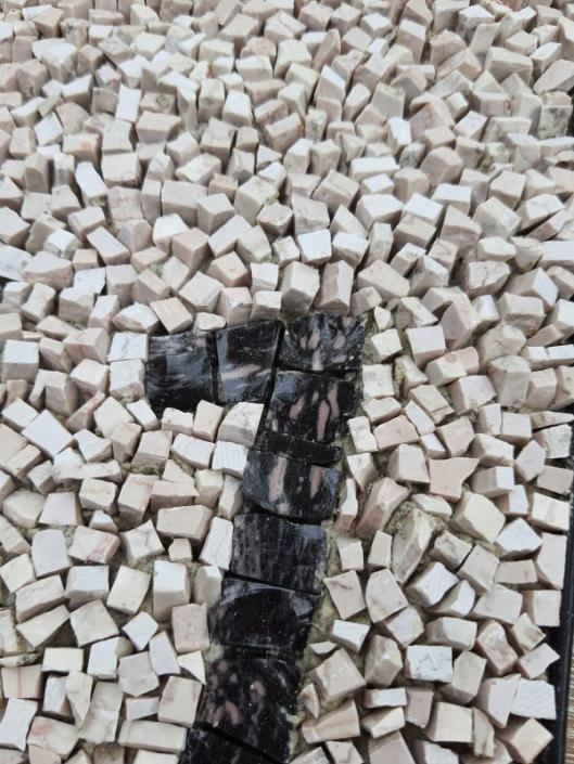 Housenumber in mosaic