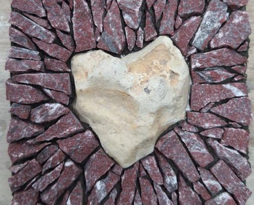 A heart in mosaic