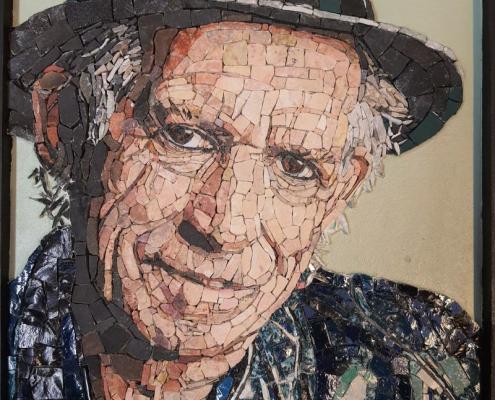 Mosaic portrait Keith Richards